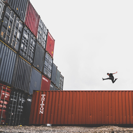 Módulos de acero, contenedores marítimos