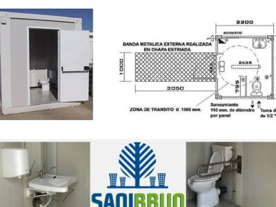 Modulos sanitarios conectables a red
